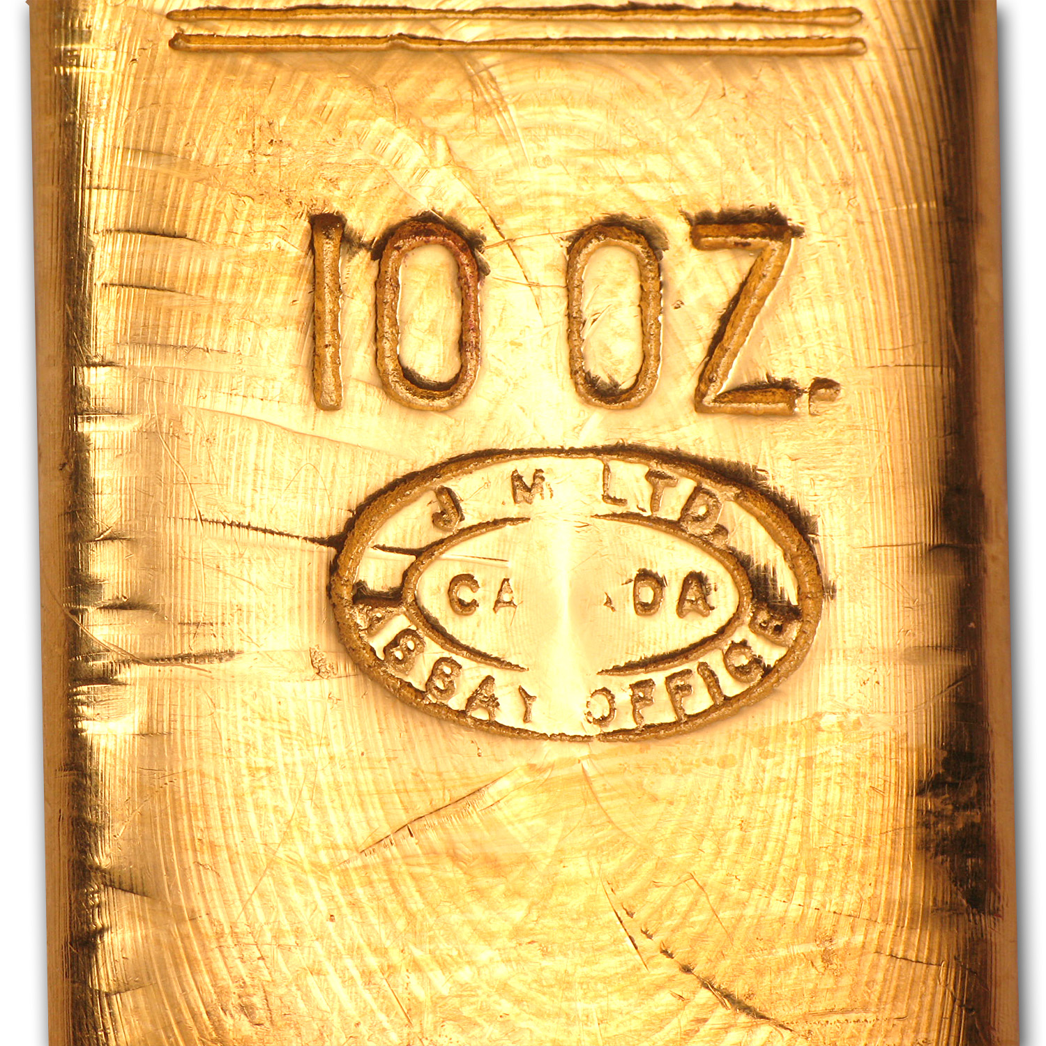 10 oz Gold Bar - Johnson Matthey (Bache)