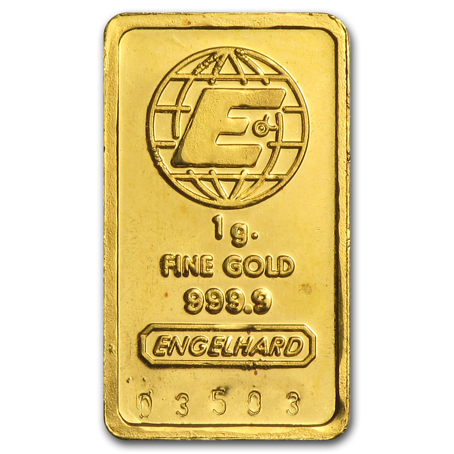 1 gram Gold Bar - Engelhard