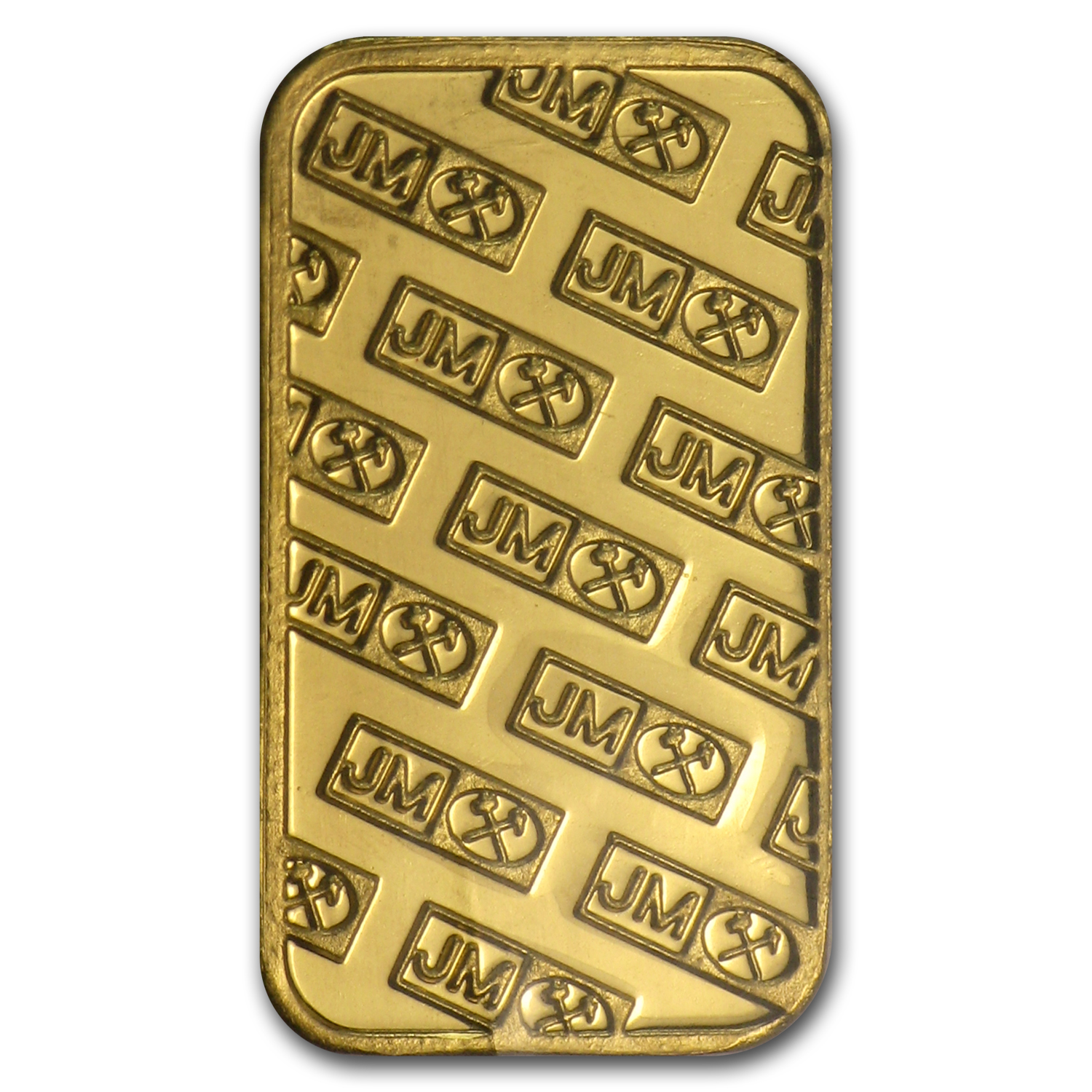 1 gram Gold Bars - Johnson Matthey (Logo Back)