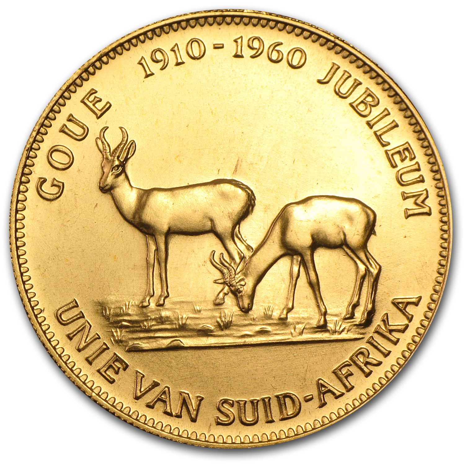 1960 South Africa Gold 1 oz Medal Golden Jubilee (Afrikaans)