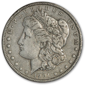 1901 Morgan Dollar VF (VAM-16, Doubled Eye, Hot-50)