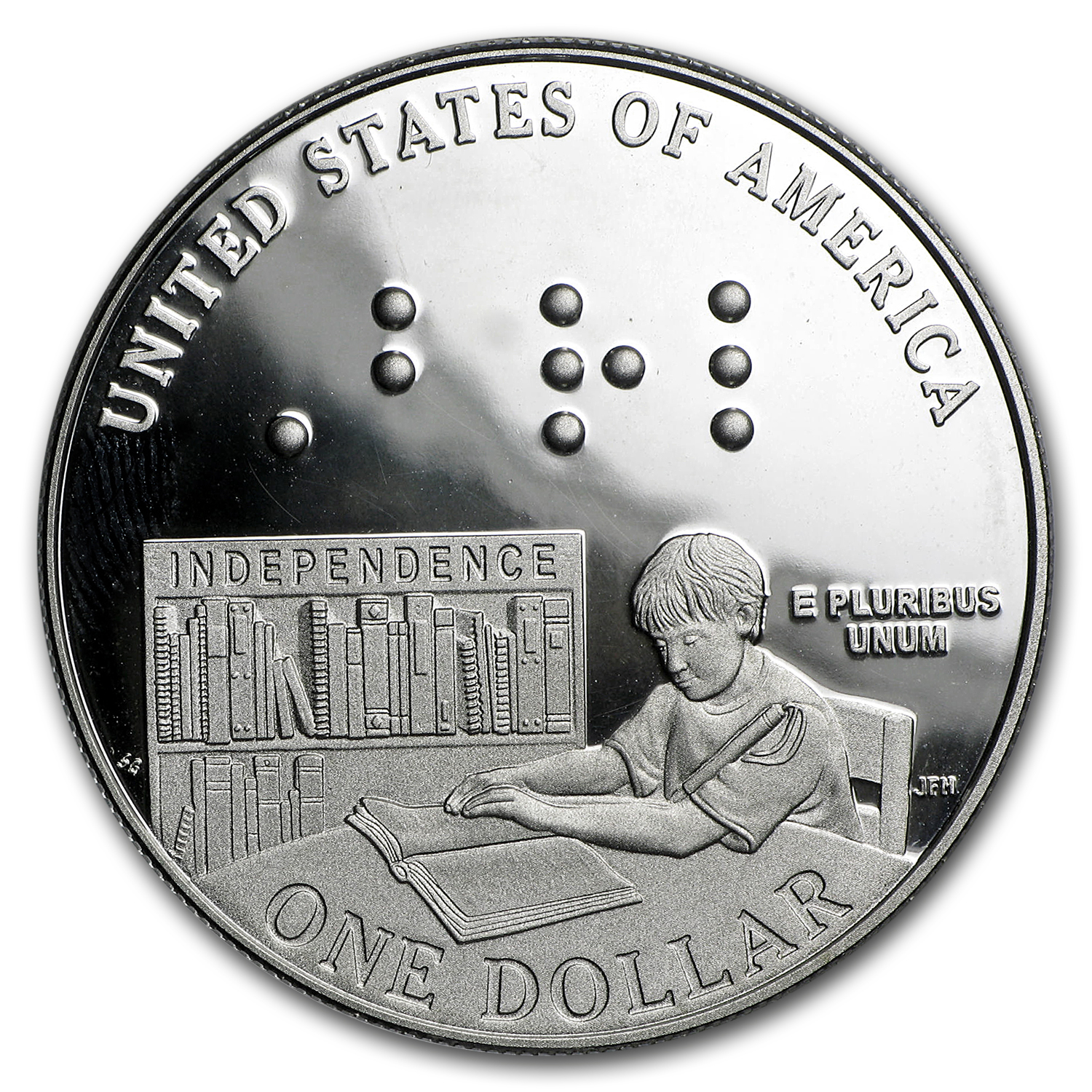 2009-P Louis Braille $1 Silver Commem Proof (w/Box & COA)
