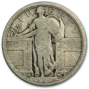 1917-D Standing Liberty Quarter Type-I VG (Partial Date)