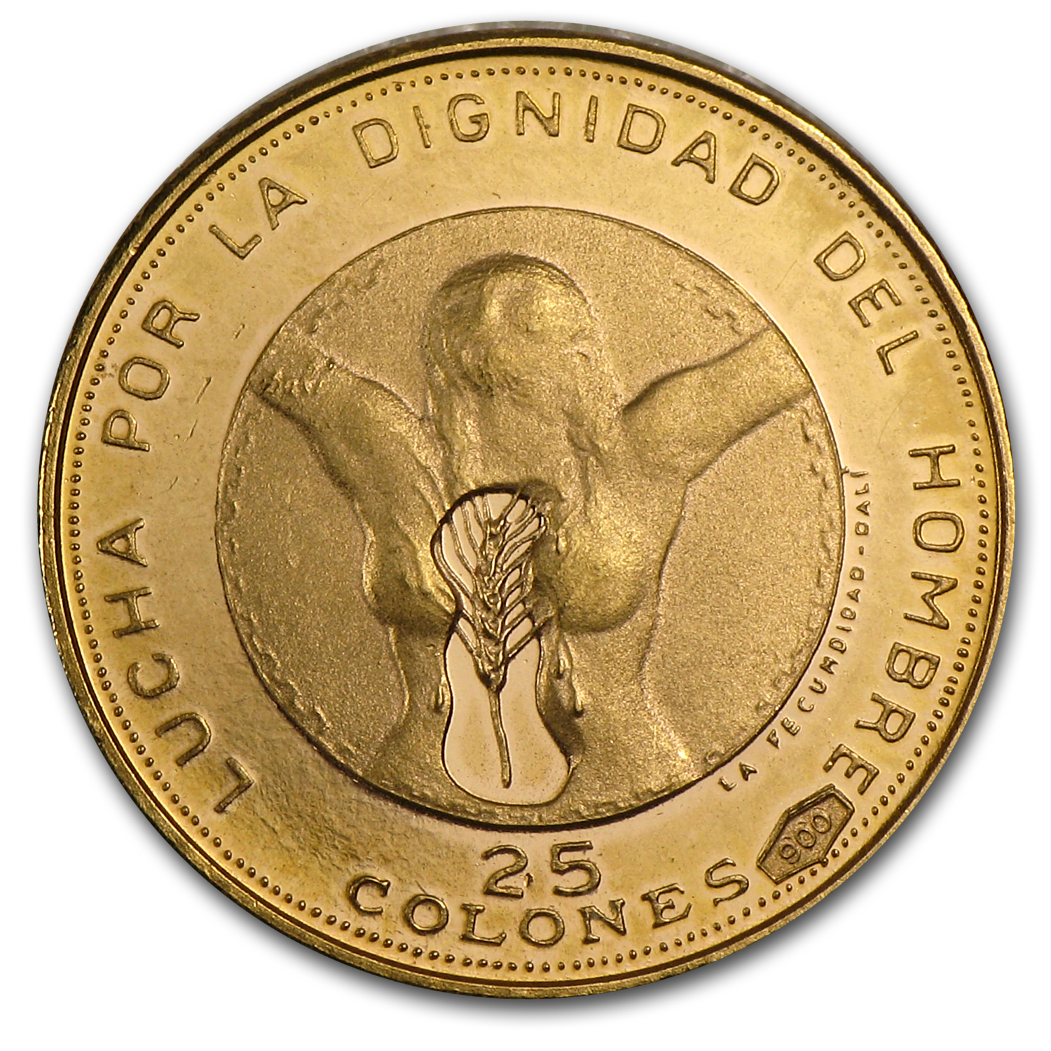 El Salvador 1971 25 Colones Proof Independence
