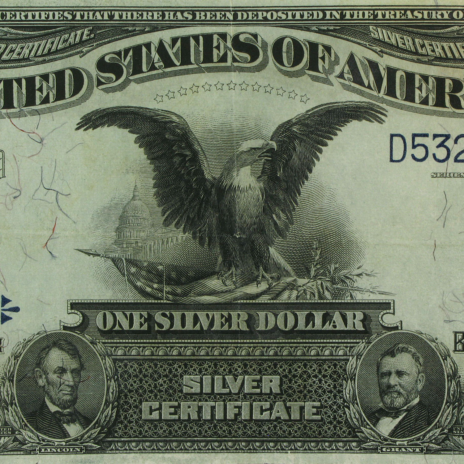 1899 $1.00 Silver Certificate Black Eagle (Very Fine) +)