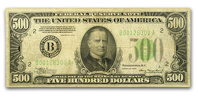 1934 (B-New York) $500 FRN Fine