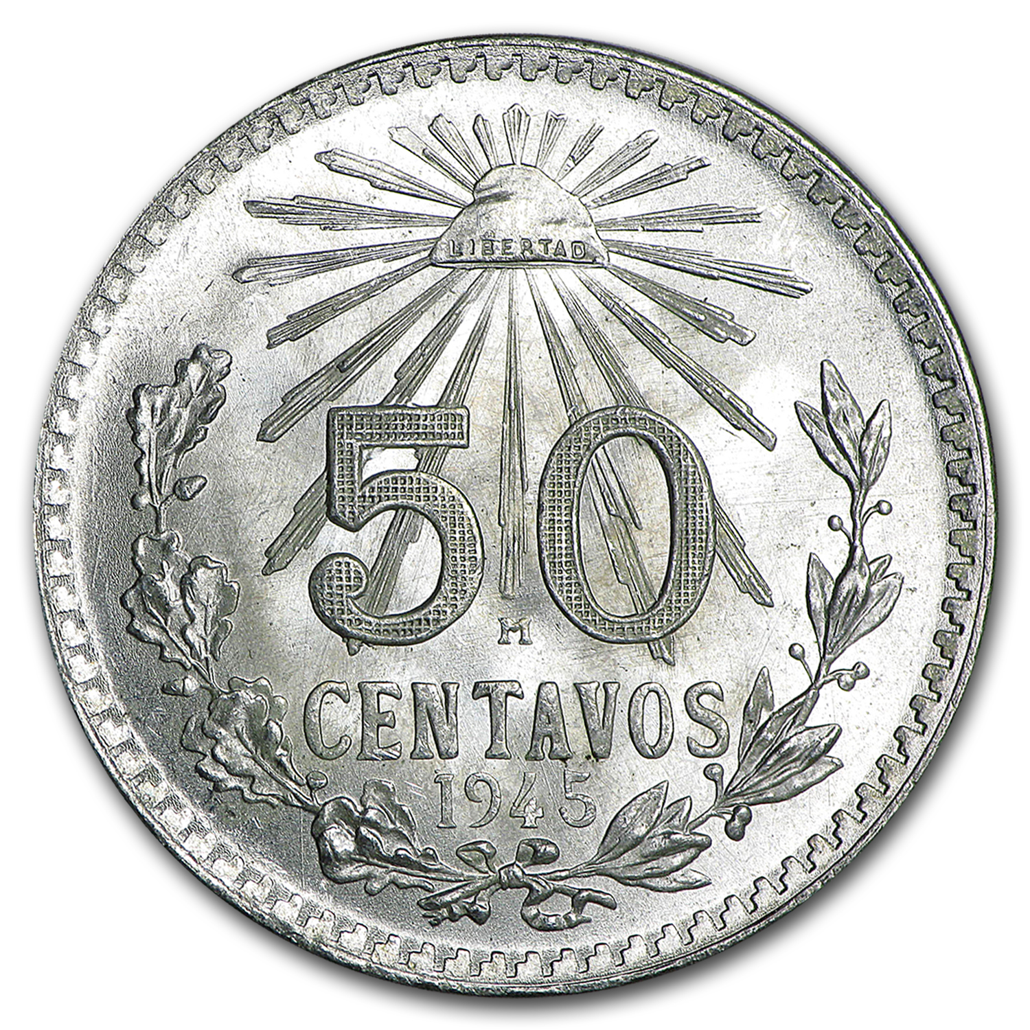 Mexican Silver 50 Centavos (XF or Better) ASW .1929