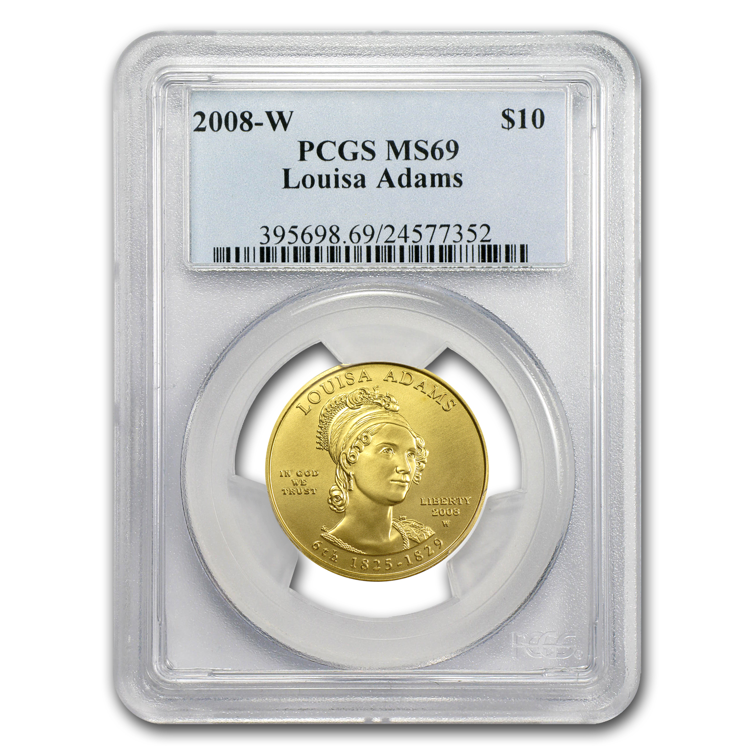 2008-W 1/2 oz Gold Louisa Adams MS-69 PCGS