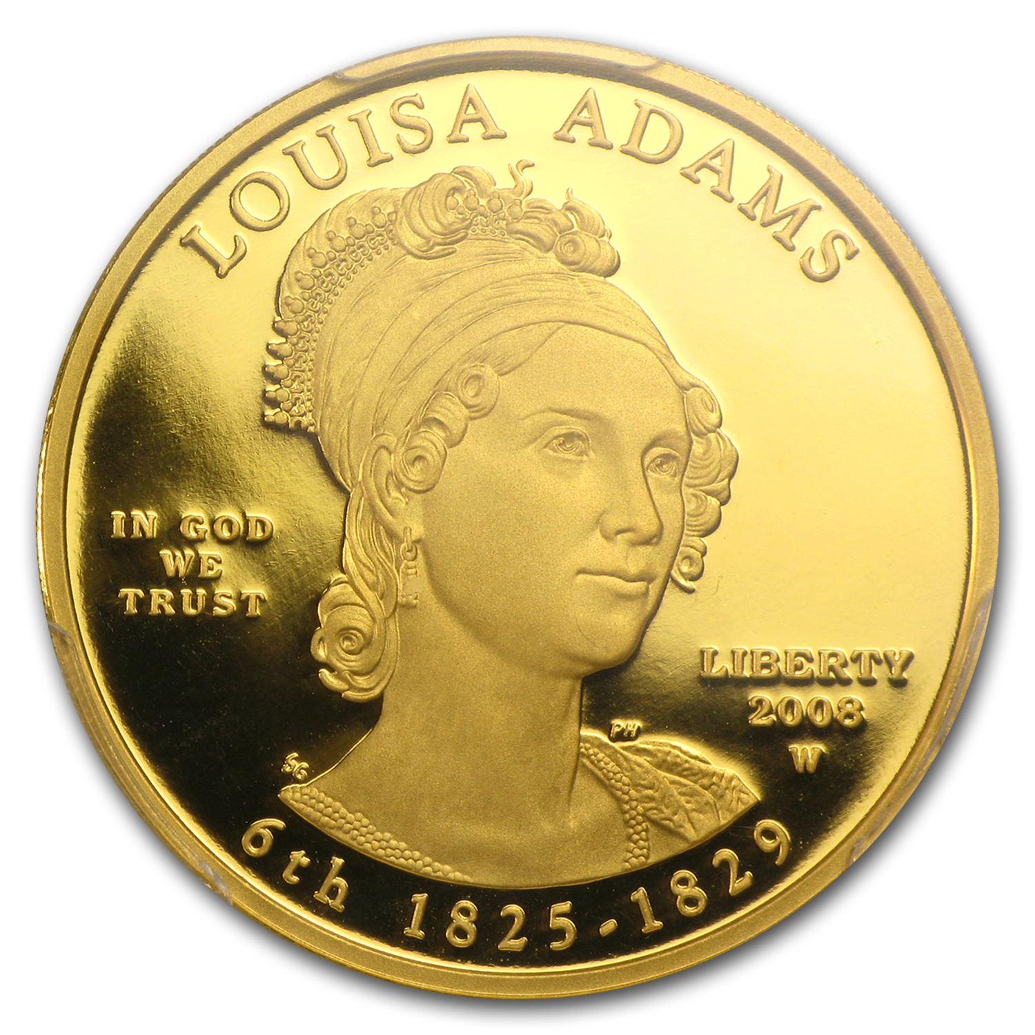 2008-W 1/2 oz Proof Gold Louisa Adams PR-69 DCAM (FS) PCGS