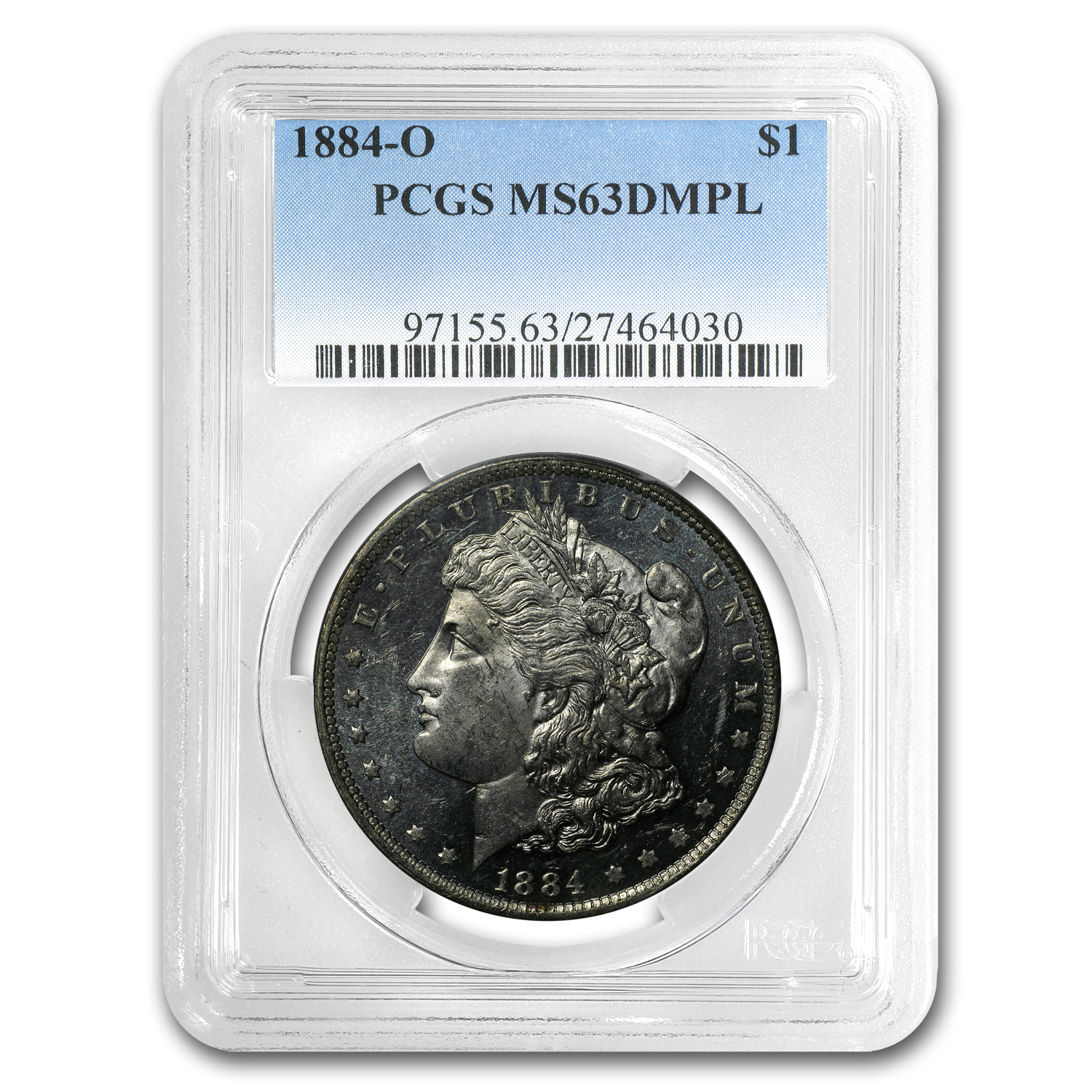 1884-O Morgan Dollar MS-63 DMPL PCGS