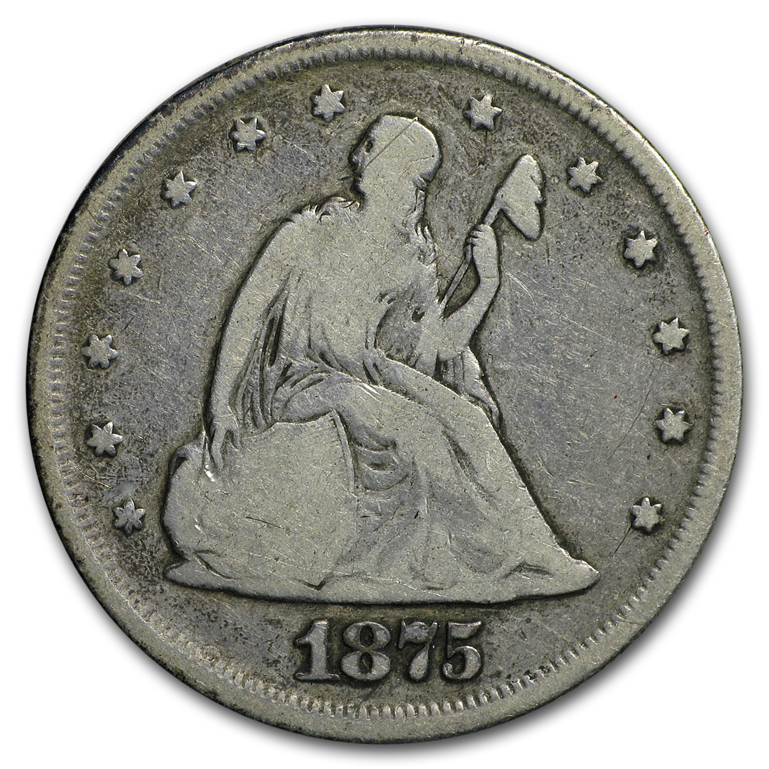 1875 Twenty Cent Piece VG