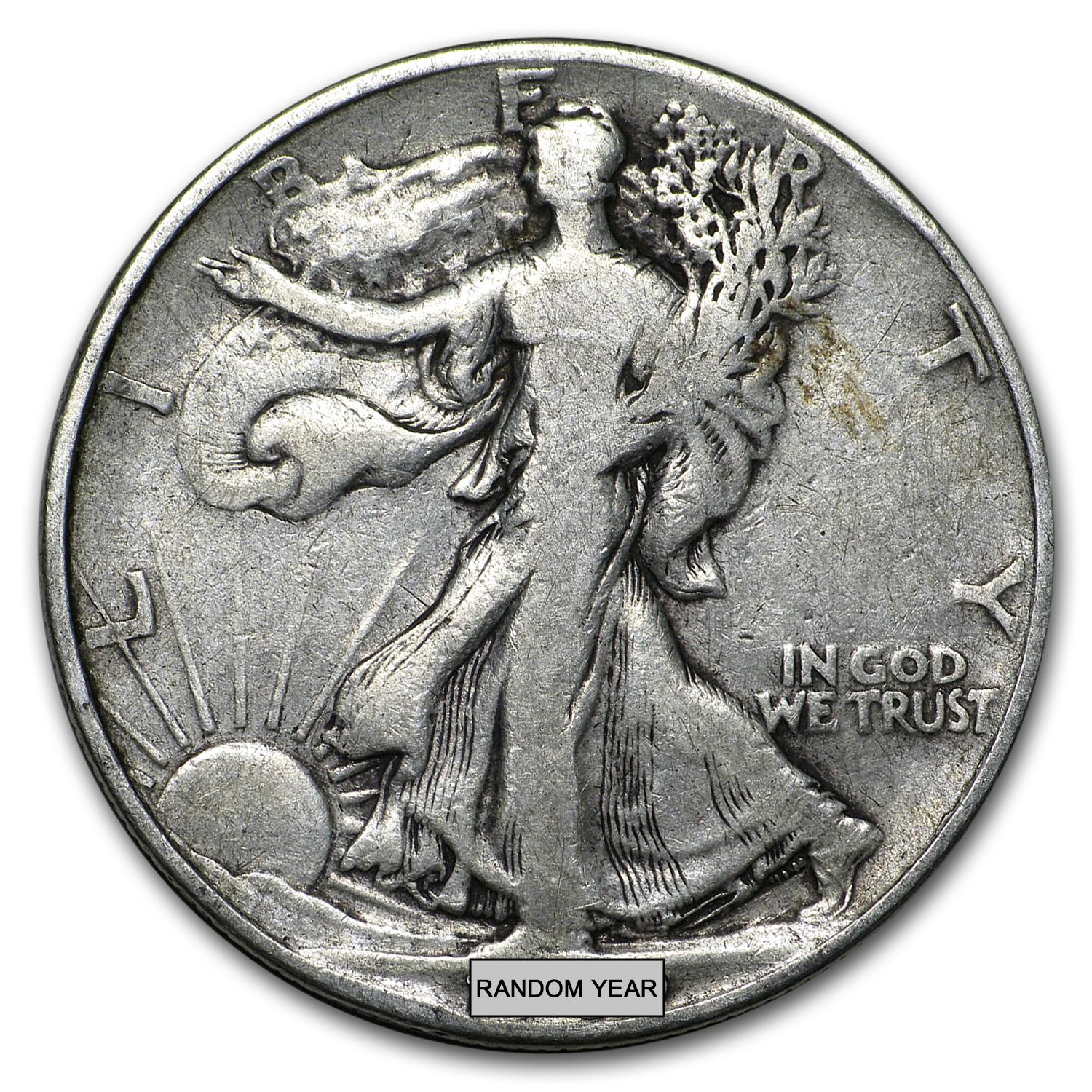 90% Silver Walking Liberty Half-Dollars $100 Face-Value Bag
