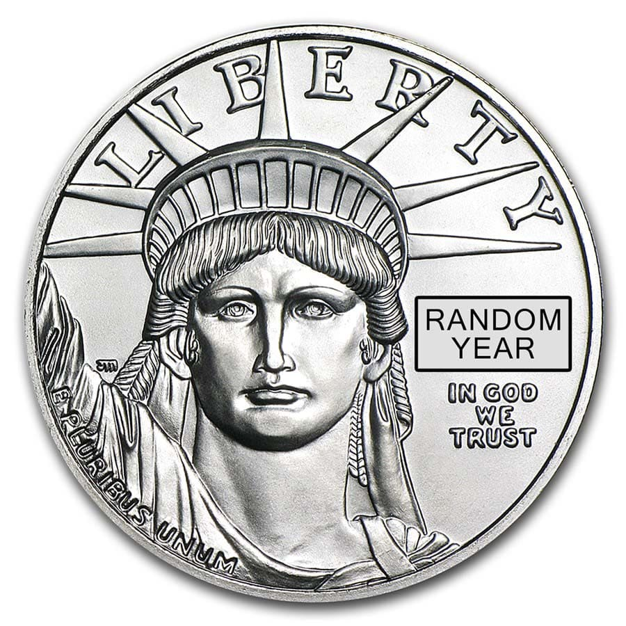 1997-2015 1 oz Platinum American Eagle BU (Random Year)