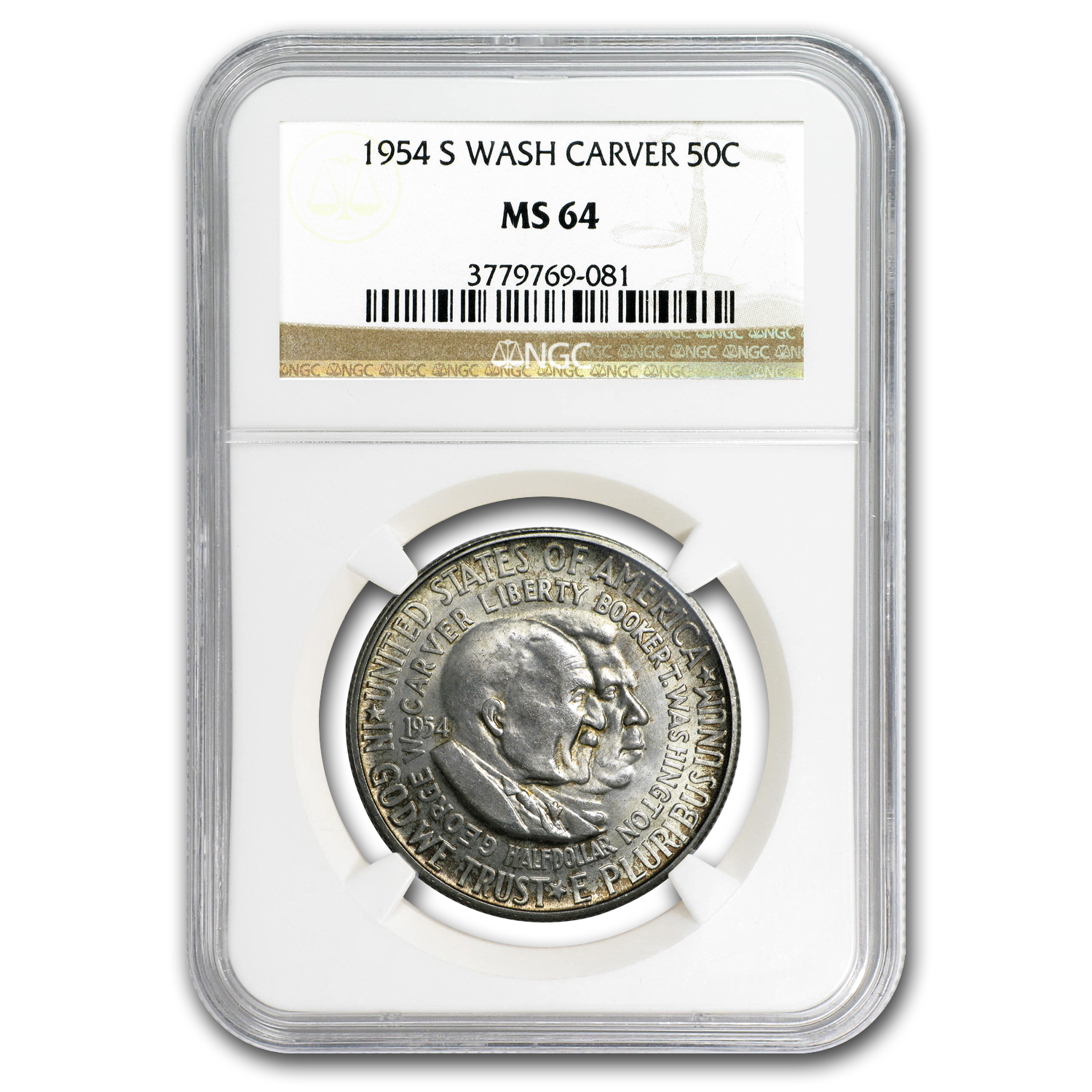 1954-S Washington-Carver Half MS-64 NGC