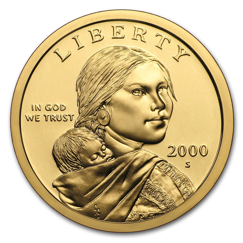 2000 S Sacagawea Dollar Gem Proof 1 00 Sacagawea