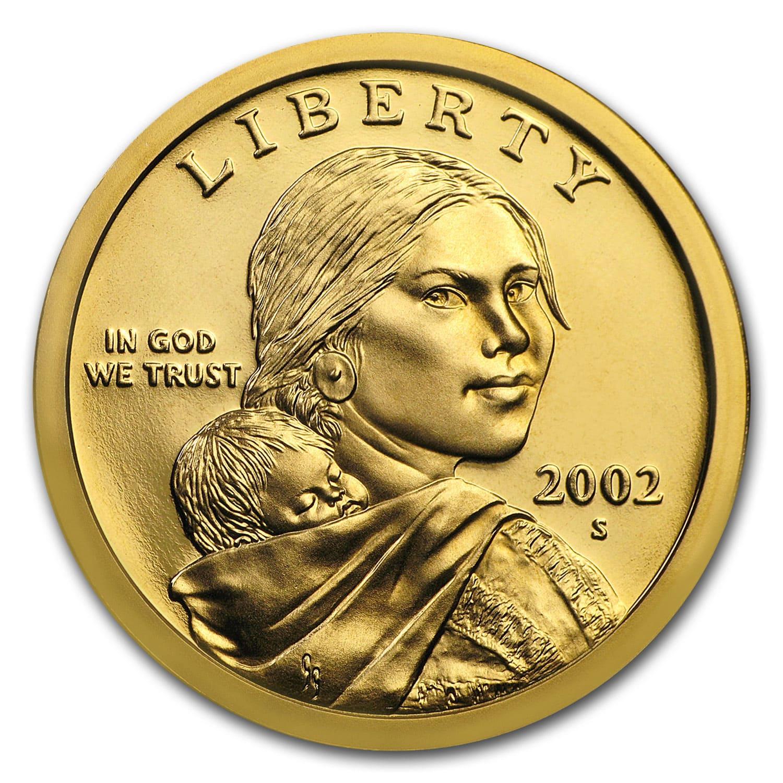 2002 S Sacagawea Dollar Gem Proof 1 00 Sacagawea