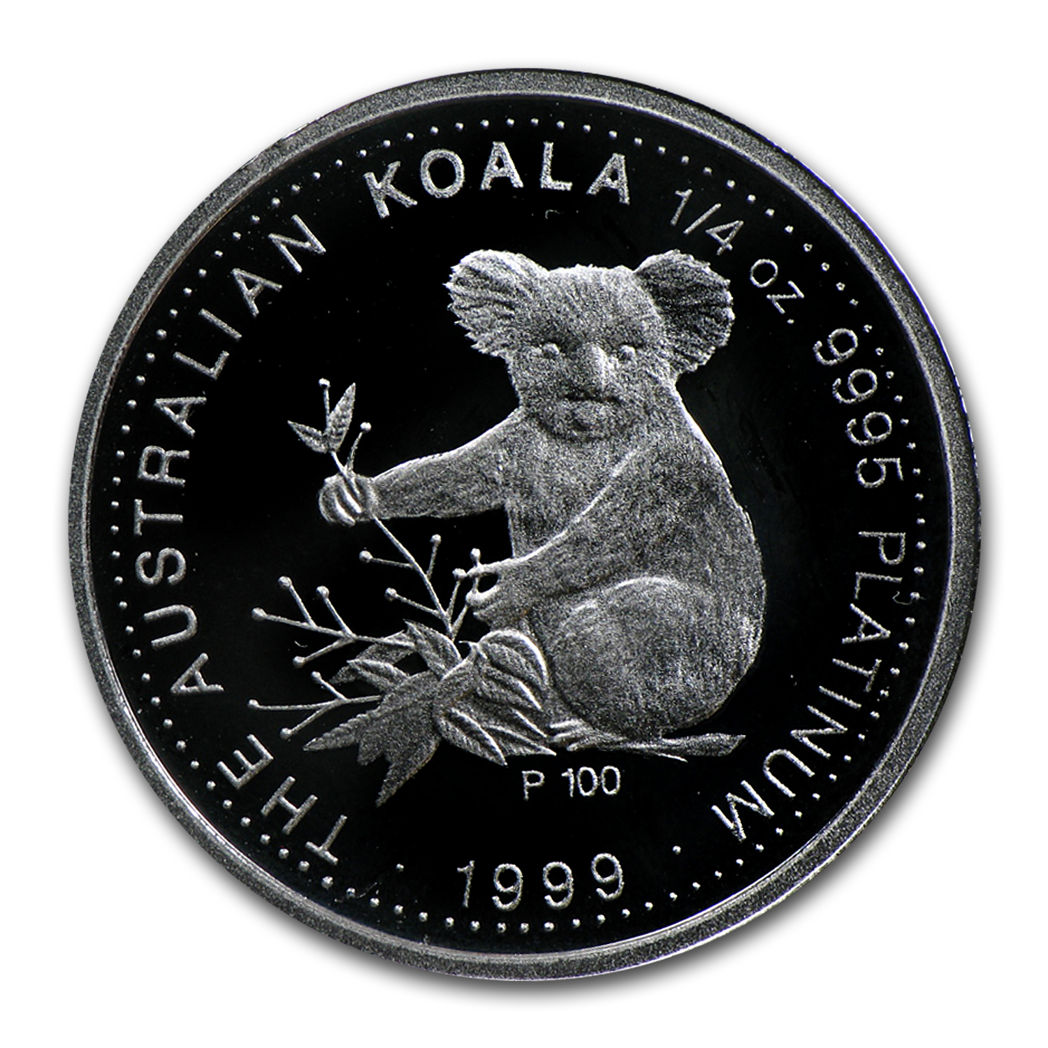 1999 Australia 2-Coin Platinum Koala Set BU/Proof (w/Box & COA)