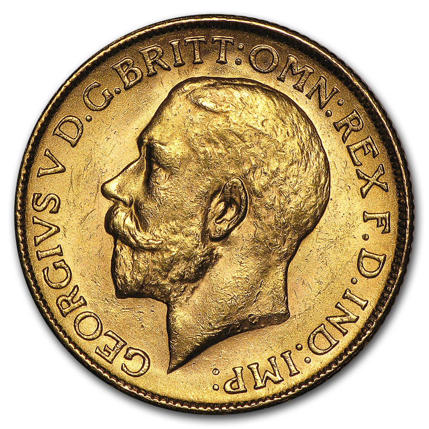 1911-1931-M Australia Gold Sovereign George V BU