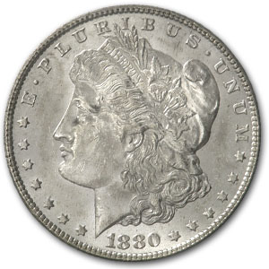 1880/9-S Morgan Dollar - BU VAM-11 0/9 Overdate Hot-50