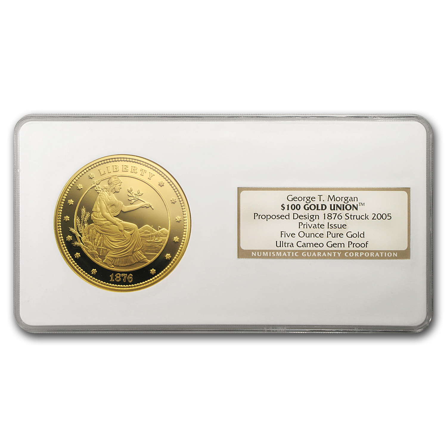 5 oz Gold Round - $100 Gold Union (NGC, Gem Proof)