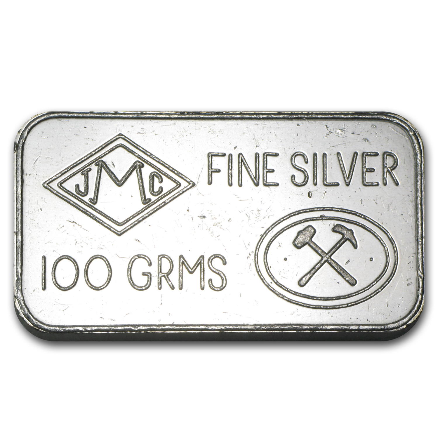 100 gram Silver Bar - Johnson Matthey (London/Bank of England)