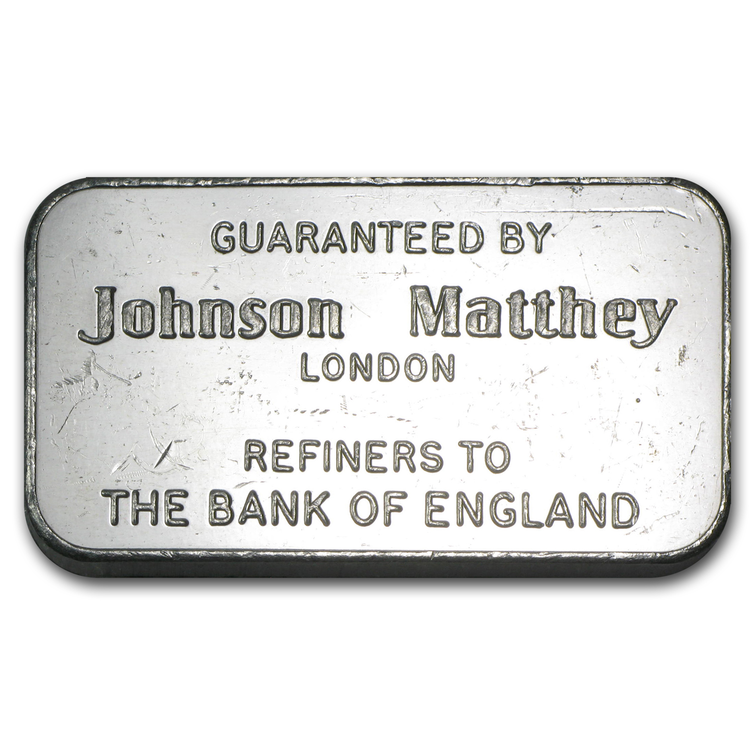 100 gram Silver Bars - Johnson Matthey (London/Bank of England)