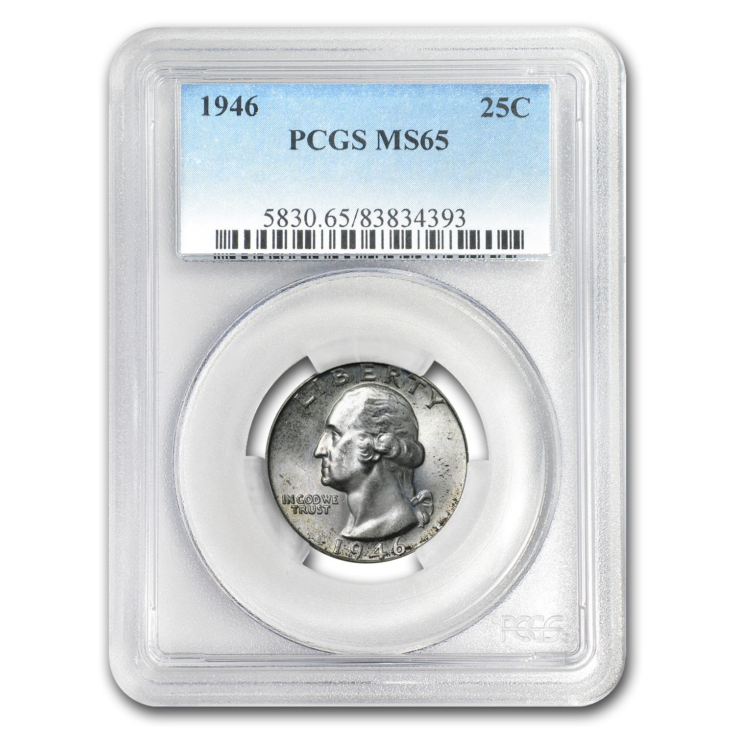 1946 Washington Quarter MS-65 PCGS