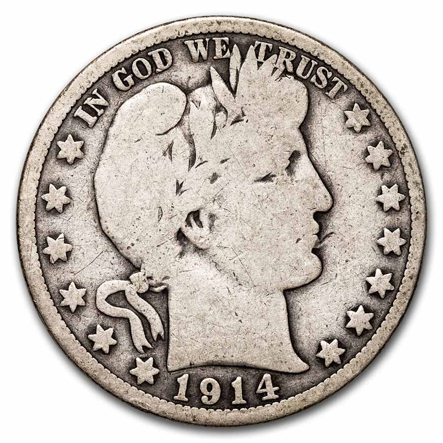 1914 Barber Half Dollar - Good