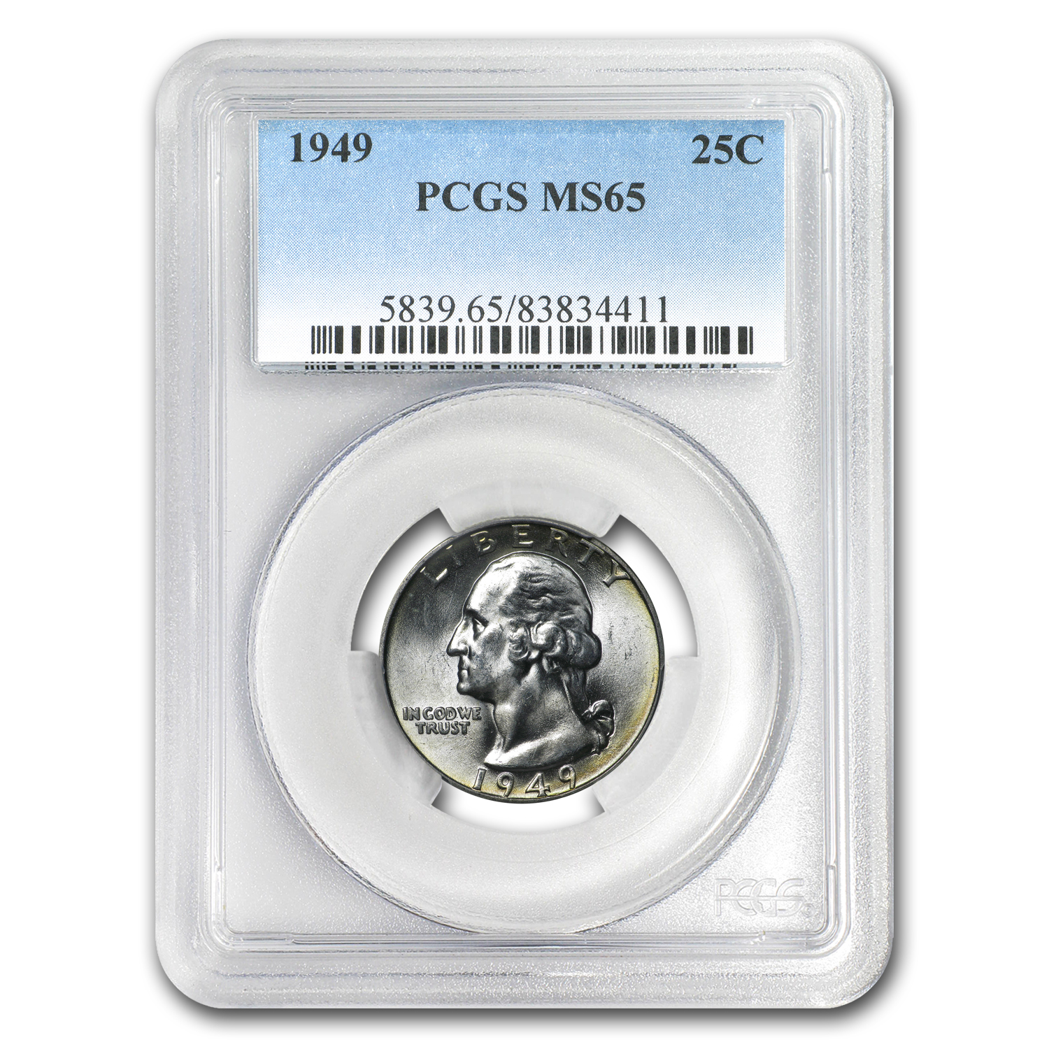1949 Washington Quarter MS-65 PCGS