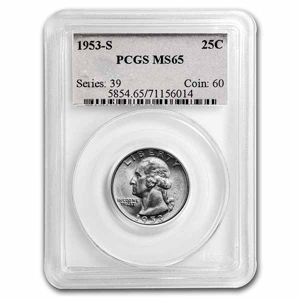 1953-S Washington Quarter MS-65 PCGS