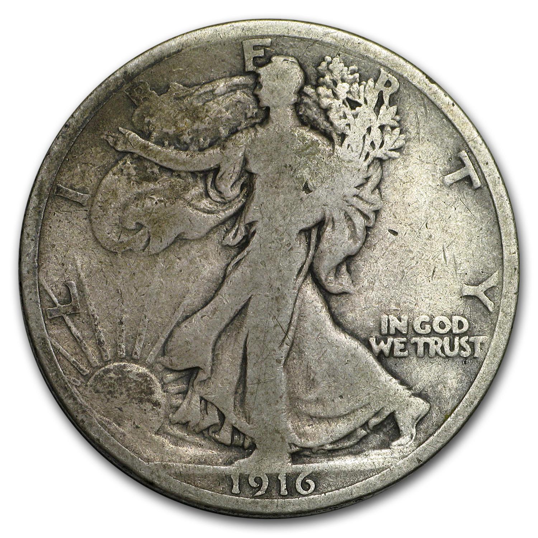 1916 Walking Liberty Half Dollar Good Walking Liberty