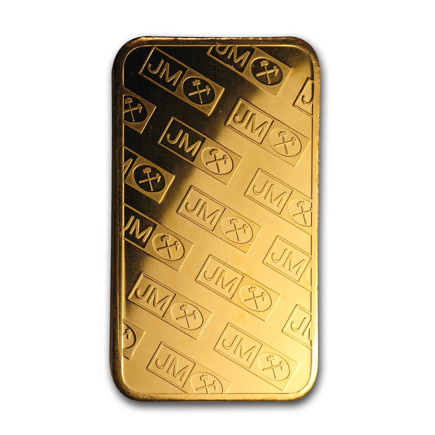 5 oz Gold Bar - Johnson Matthey (Logo Back)