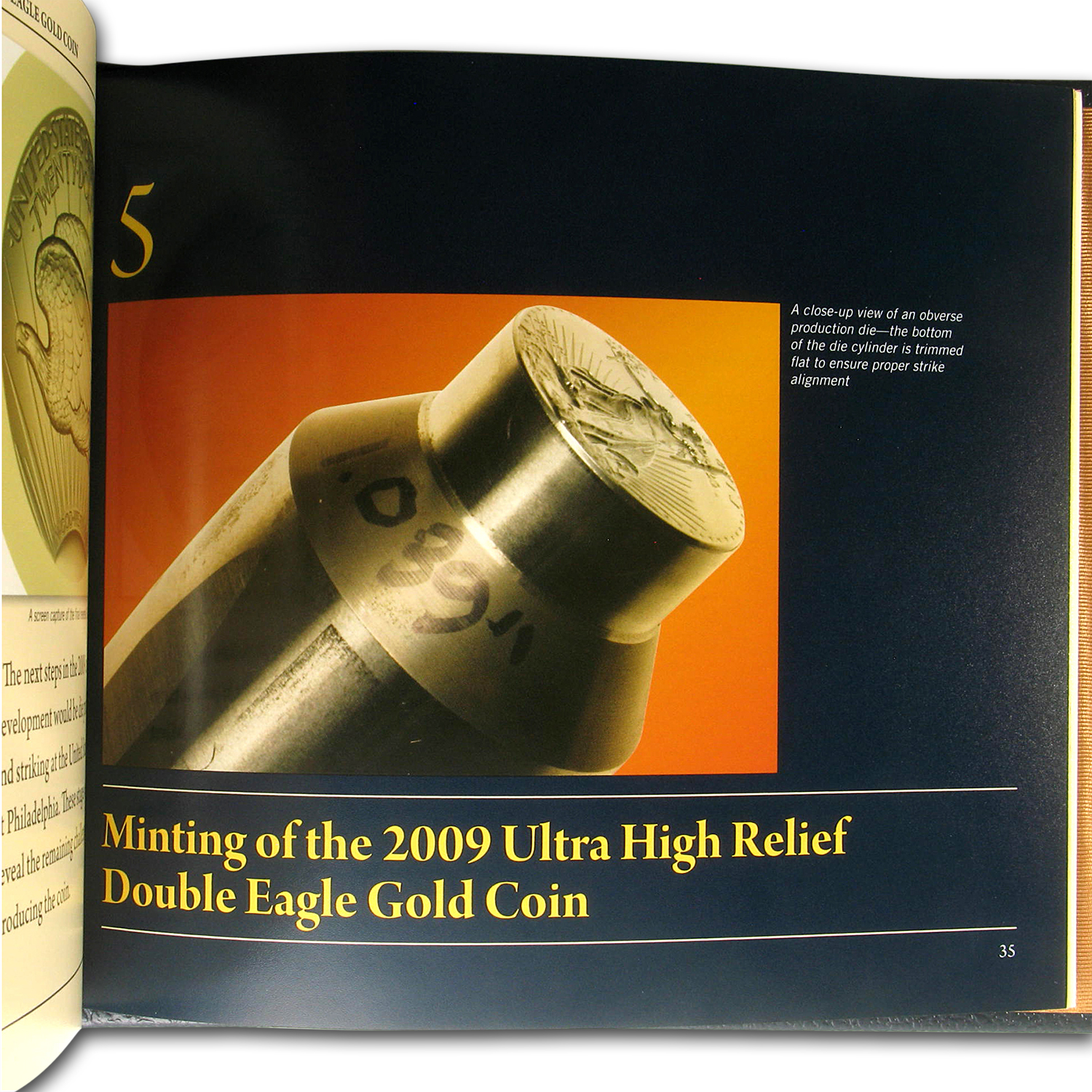 2009 Ultra High Relief Double Eagle Gold Coin Book