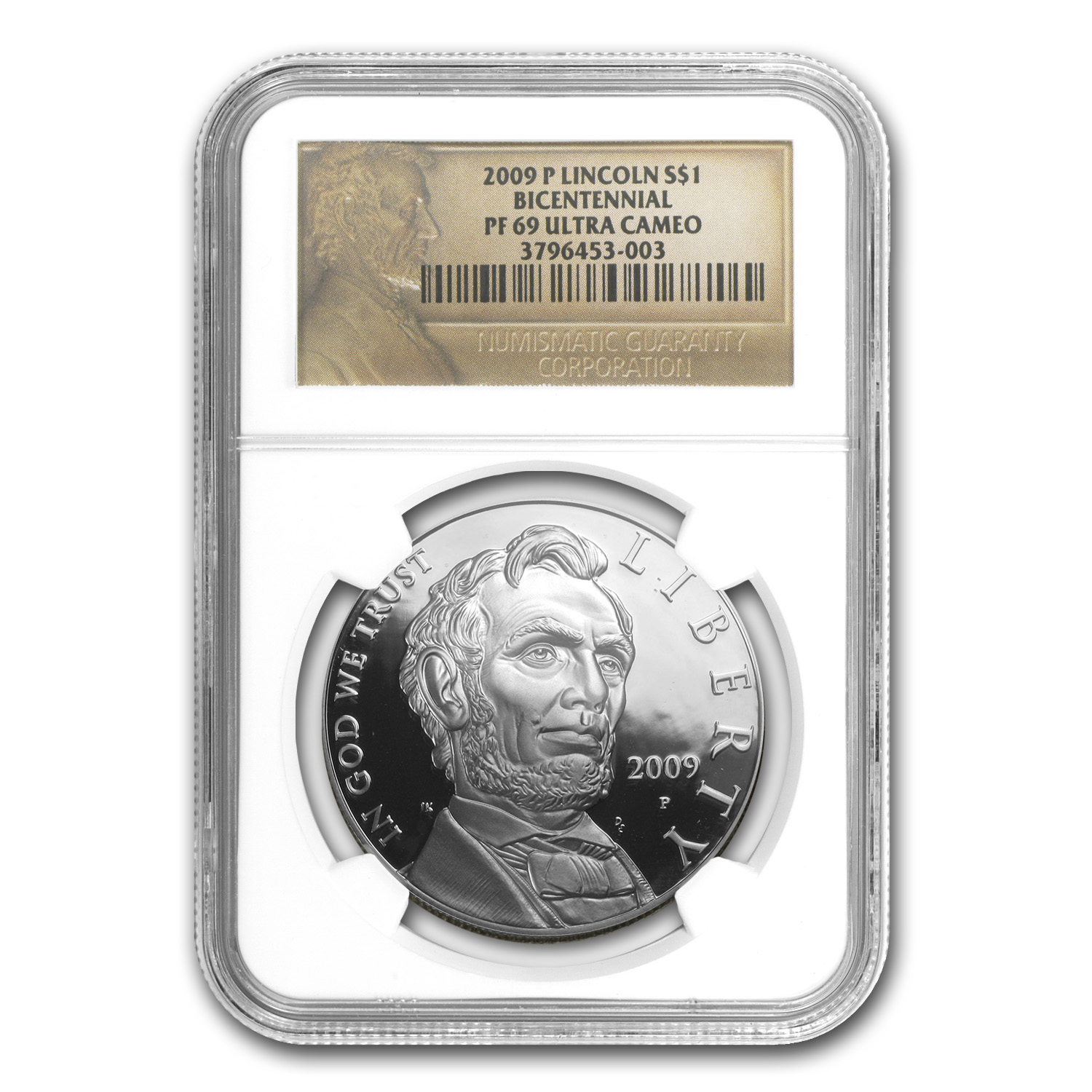 2009-P Abraham Lincoln $1 Silver Commemorative PF-69 NGC