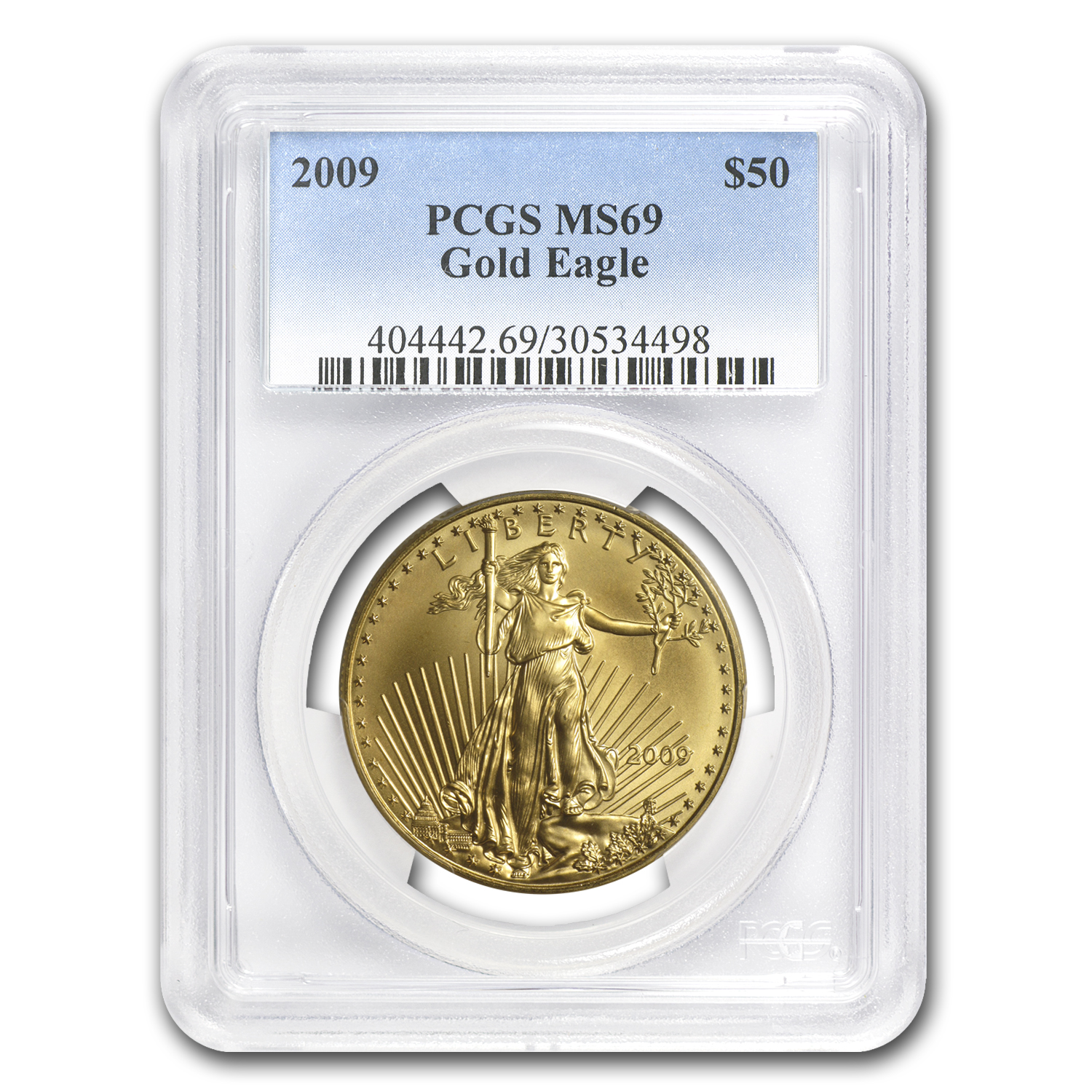 2009 1 oz Gold American Eagle MS-69 PCGS