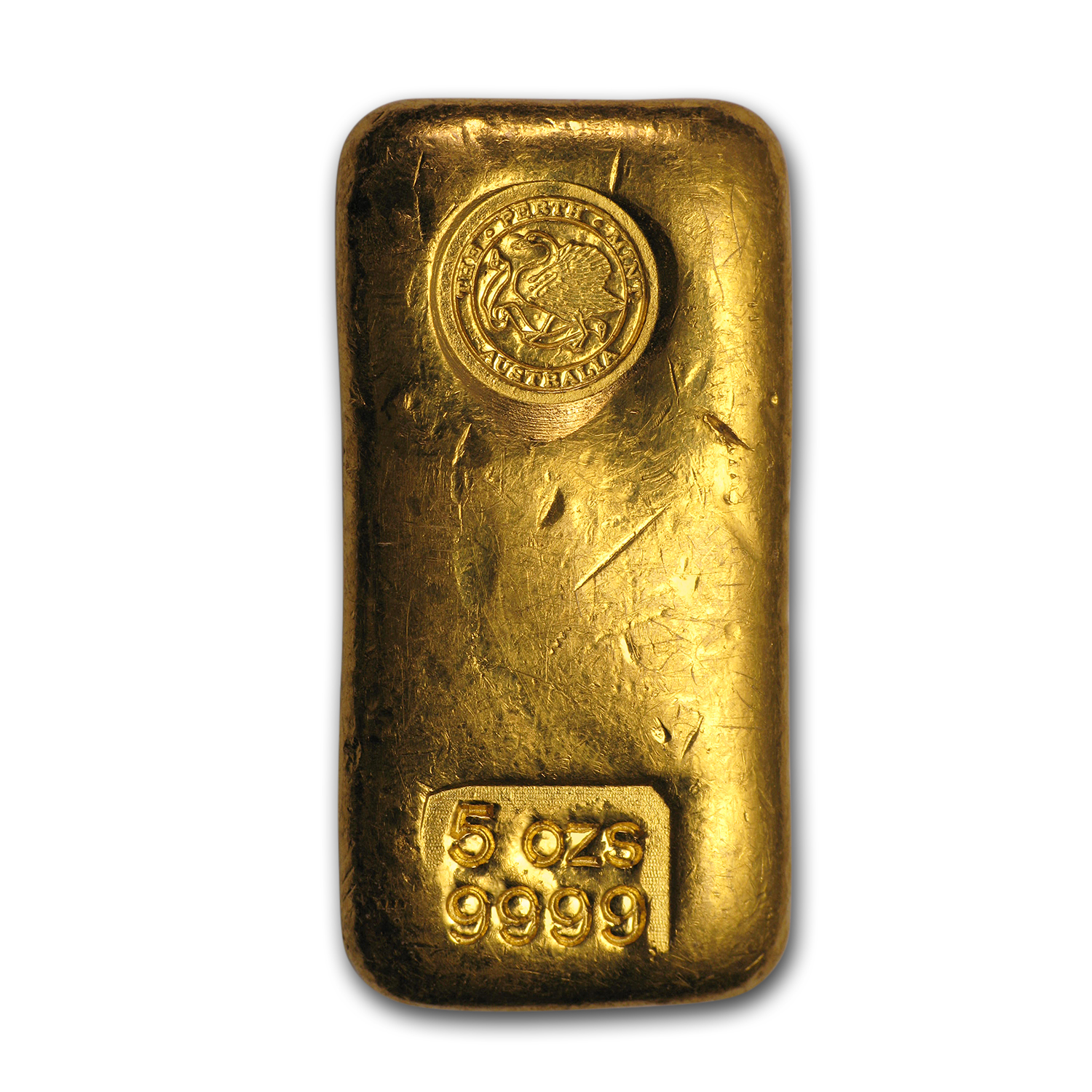 5 oz Gold Bar - Perth Mint (Loaf-Style)