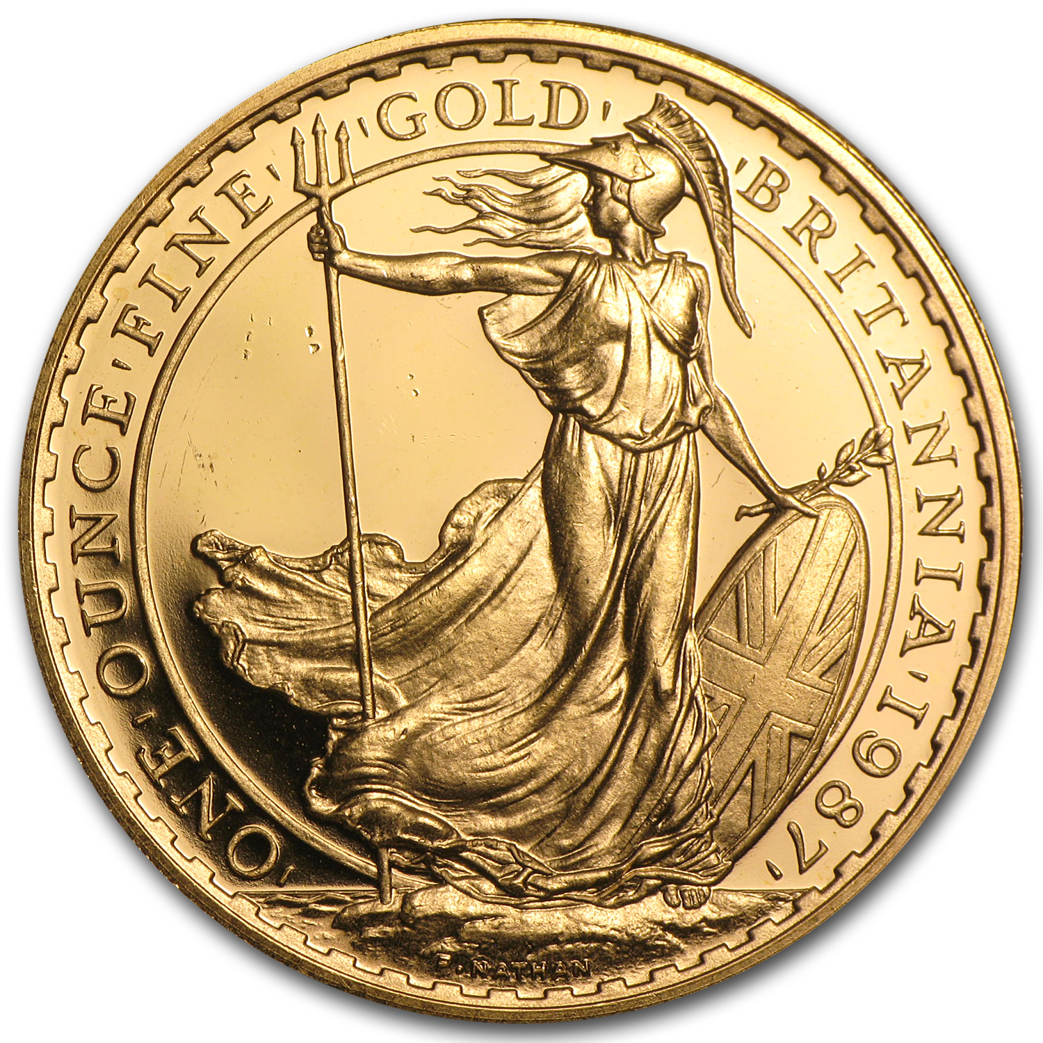 1 oz Gold Britannia BU/Proof (Scruffy)