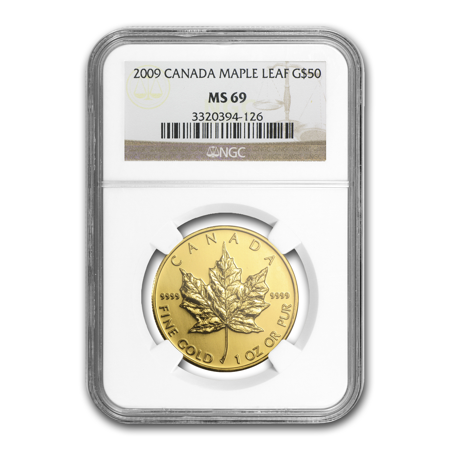 2009 Canada 1 oz Gold Maple Leaf MS-69 NGC