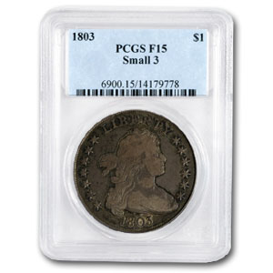 1803 Draped Bust Dollar Fine-15 PCGS (Small 3)