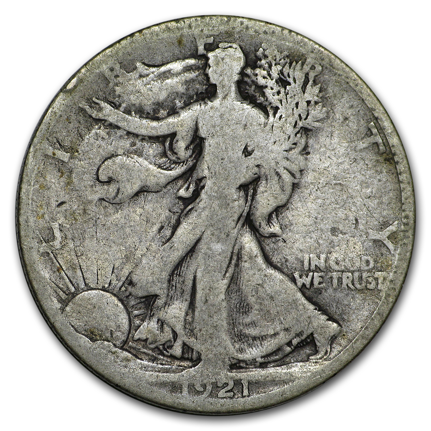 1921-S Walking Liberty Half Dollar Good