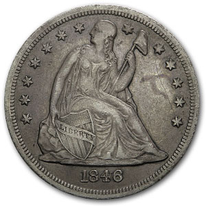 1846-O Liberty Seated Dollar Extra Fine
