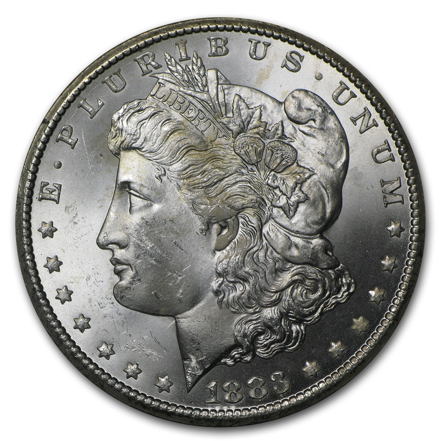 1883-CC Morgan Dollar BU