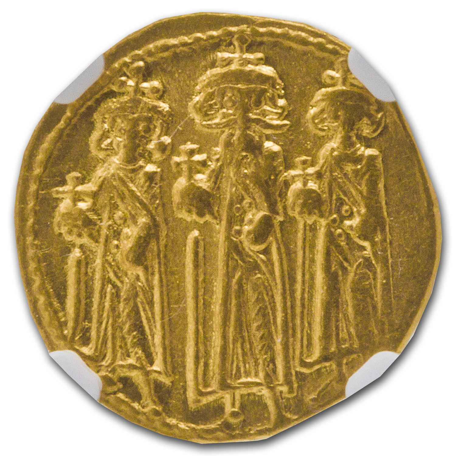 Byzantine Gold Solidus Emperor Heraclius Ch XF NGC (610-641 AD)