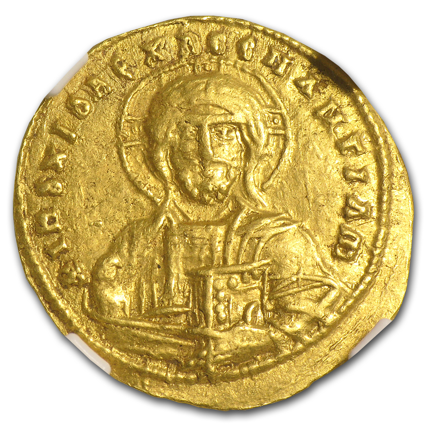Byzantine Gold of Basil II Ch XF NGC (976 -1028 AD)