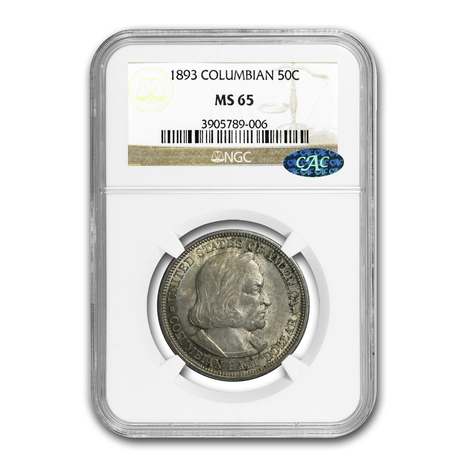 1893 Columbian Expo Half Dollar MS-65 NGC (CAC)