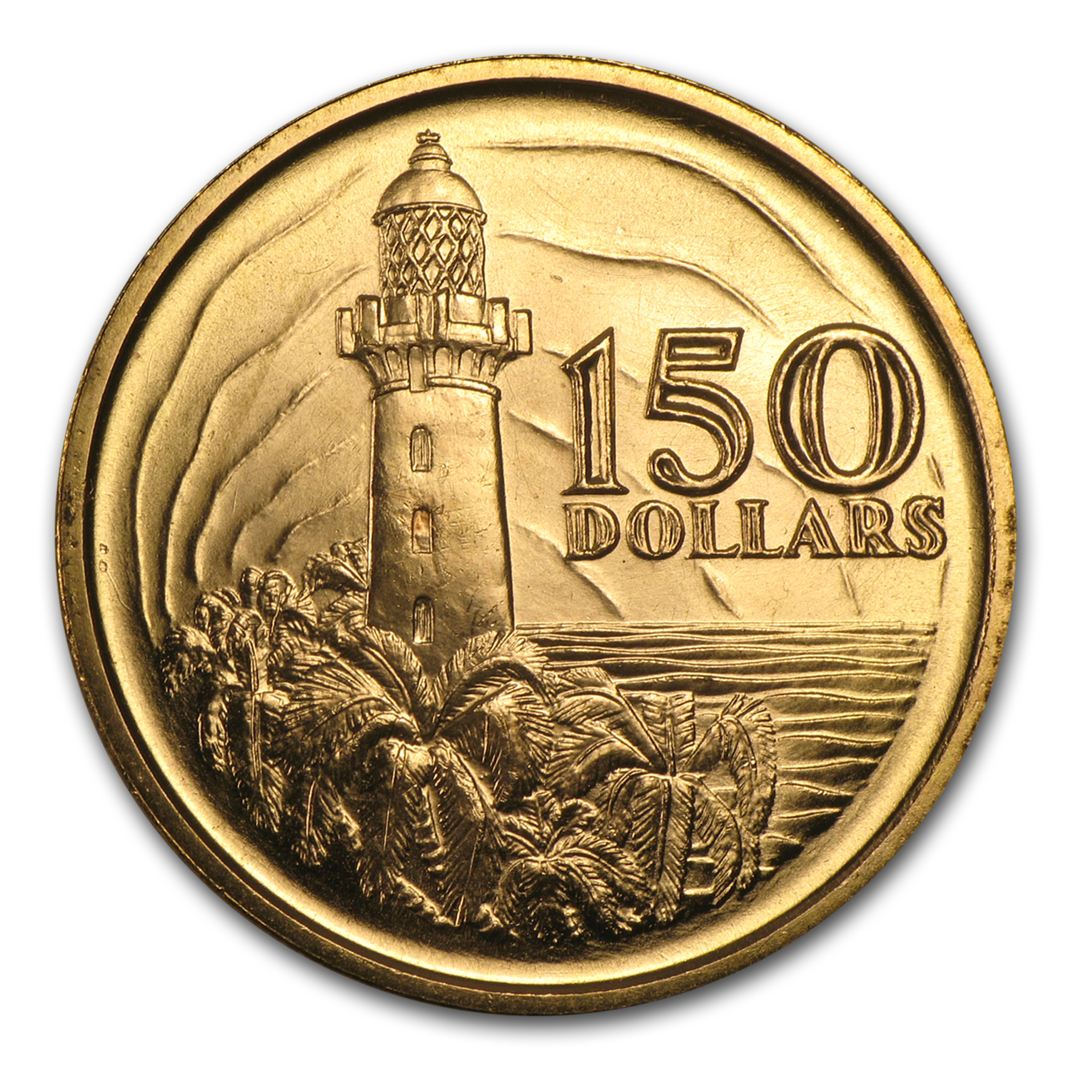 1969 Singapore Gold $150 Lighthouse BU