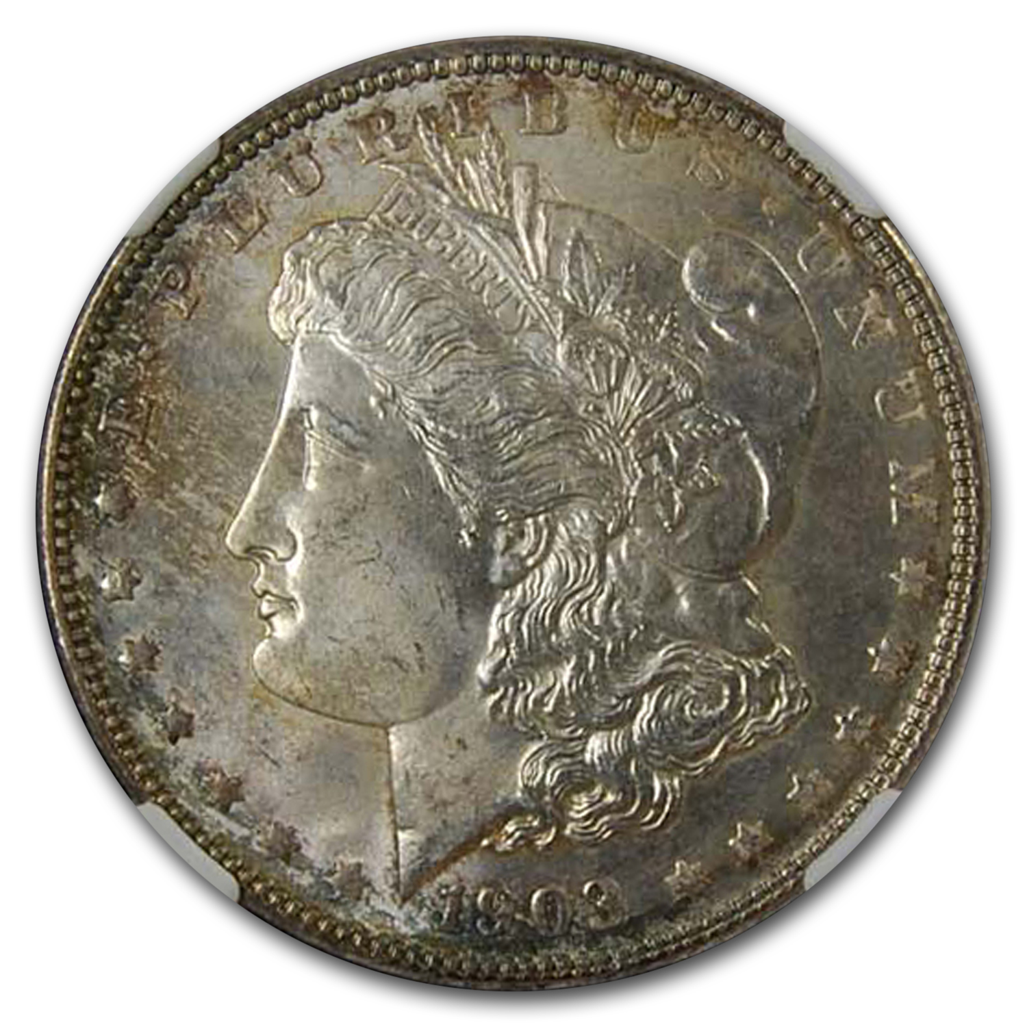 1903 Morgan Dollar MS-65 NGC (Light Peripheral Toning)