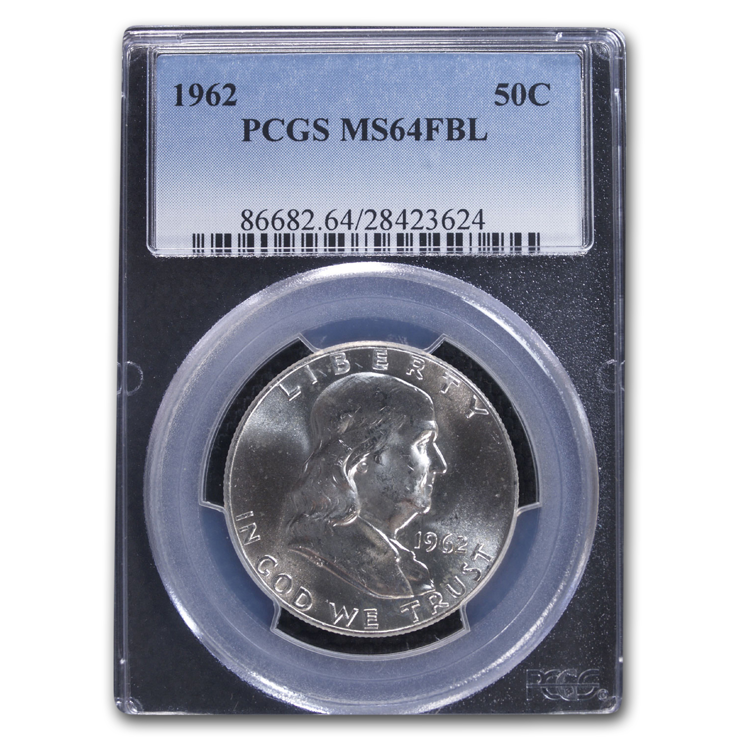 1962 Franklin Half Dollar MS-64 PCGS (FBL)