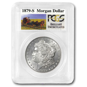 1879-S Rev of 78 Stage Coach Silver Dollar BU PCGS