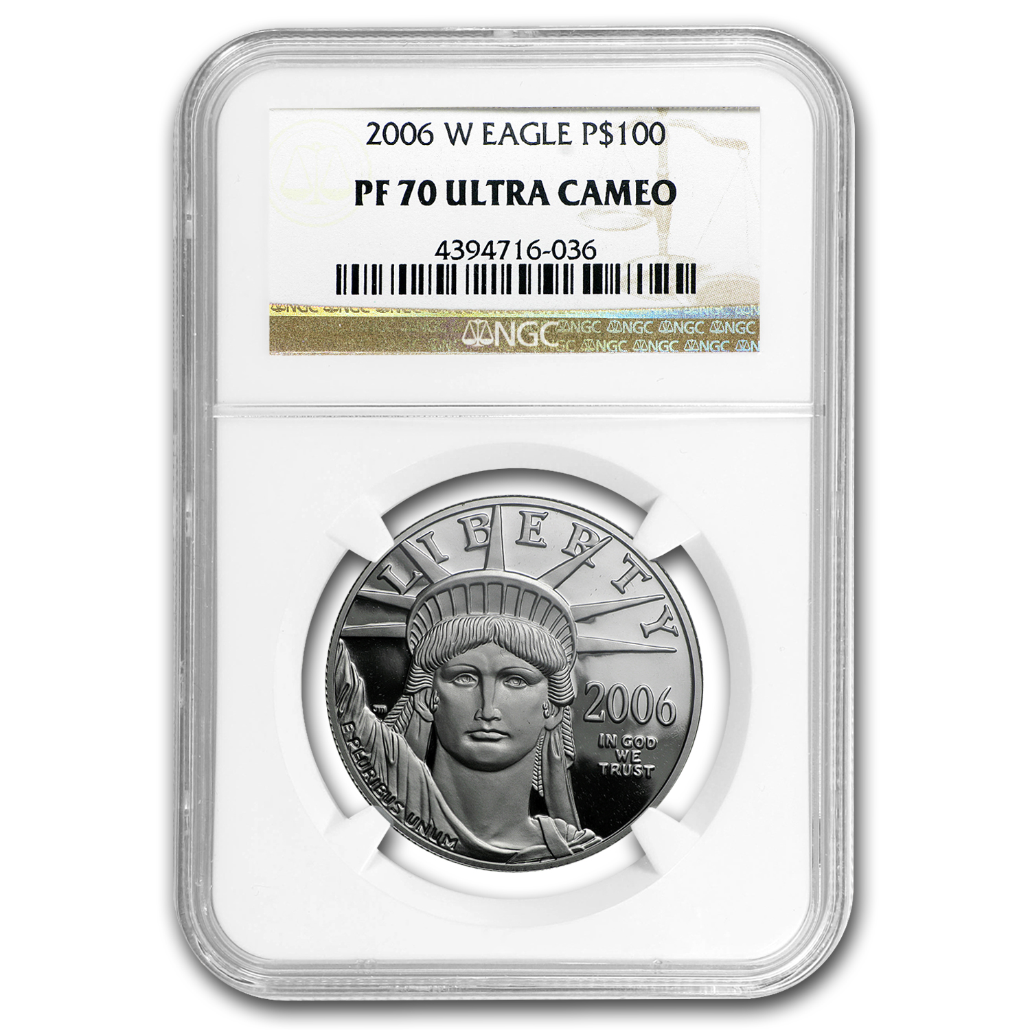2006-W 1 oz Proof Platinum American Eagle PF-70 NGC